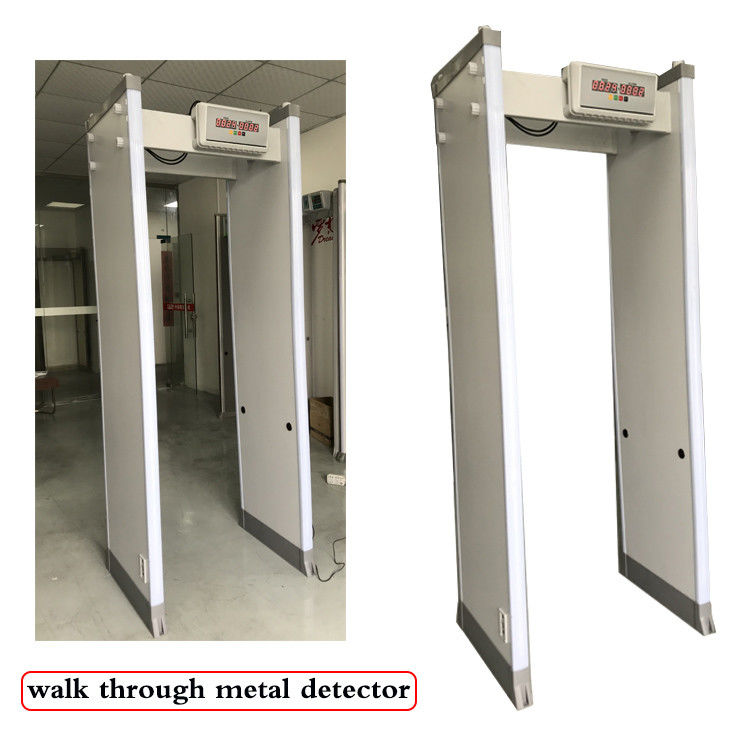 33 Detection Zones Full Body Metal Detectors , Turnstile Barrier Gate With LED Screen